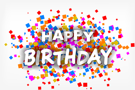 Illustration for Happy Birthday - greeting card, flyer, invitation - vector - Royalty Free Image