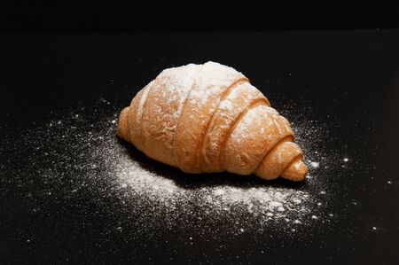 Photo for Croissant on a black background - Royalty Free Image