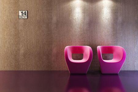 modern sofa 3D computer rendering