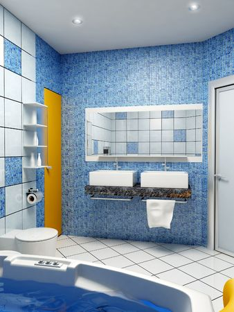 3d rendering of the modern bathroom interior
