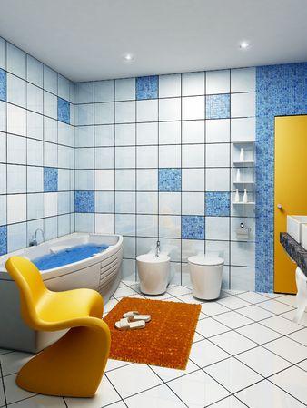 3d rendering of the modern bathroom interior