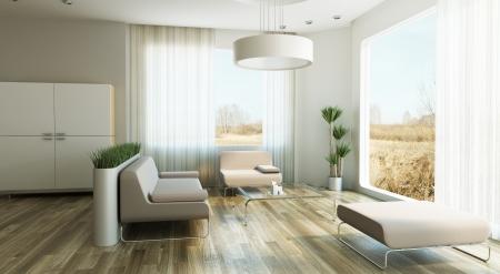 design of lounge room, 3d render