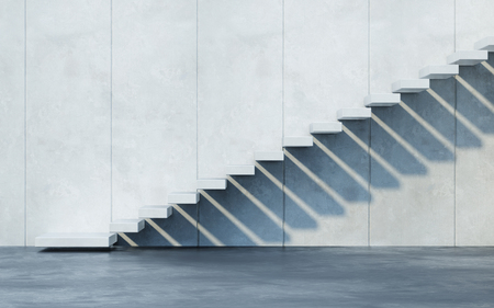 Photo for stairs leading upward, 3d rendering - Royalty Free Image