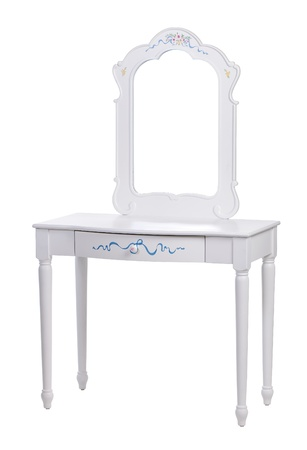 Elegant dressing table over white, with path