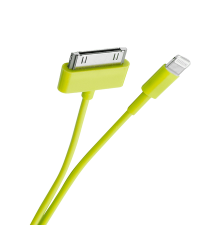 mobile phone chargers isolated on white
