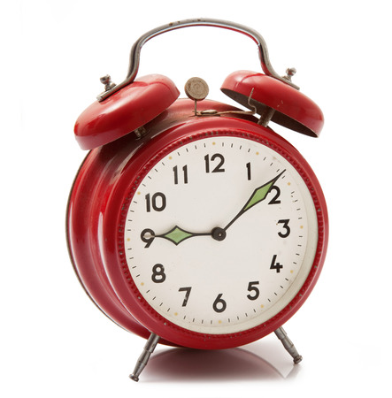 isolated alarm clock on white background