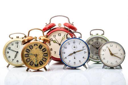 Foto de a vintage alarm clock collection - Imagen libre de derechos