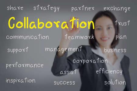 Foto de businesswoman writing  collaboration concept. Business concept. - Imagen libre de derechos