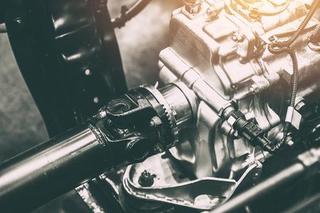 Photo pour vehicle shaft axle of power transmission to wheel of truck car - image libre de droit