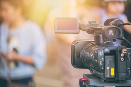 Photo pour video camera  field working recorder commercial production house - image libre de droit