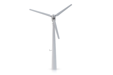 Photo for wind turbine isolated on white background. - Royalty Free Image
