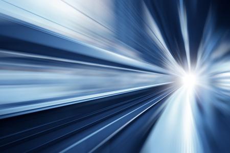 Photo pour High speed business and technology concept, Acceleration super fast speedy motion blur zoom - image libre de droit