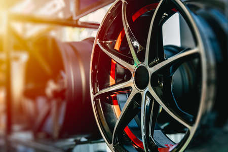 Photo for Wheel Alloy Wheels Rim or Mag Wheel high performance auto part decoration - Royalty Free Image