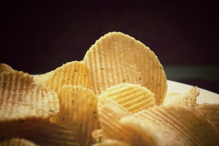 Close up of potato chips
