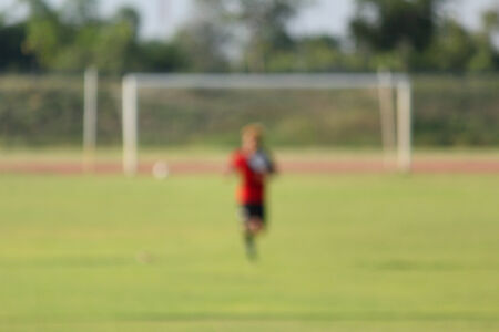 blurred playing football