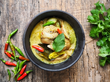 Foto per Green curry chicken Thai food - Immagine Royalty Free