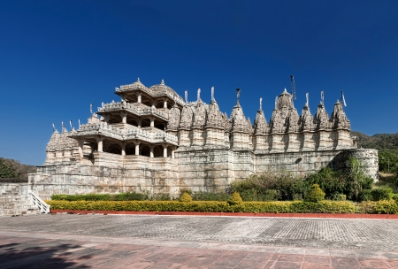 Sheth Anandji kalyanji Temple.  Adinath Temple, Jain Temple, Ranakpur, Pali District, Udaipur, Rajasthan, India, Asia