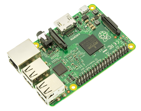 Wallisellen, Switzerland - 5 May, 2016: a Raspberry Pi 2 Model B board, isolated on white background. The Raspberry Pi is a series of credit card-sized single-board computers developed by the Raspberry Pi Foundation with the intent to promote the teaching