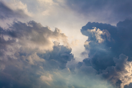 Natural background of the sky and clouds