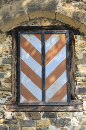 decoratively window in an medievally building