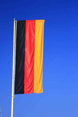 flag of Germany before blue sky