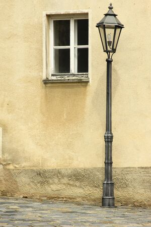 picturesque lantern in a small Bavarian town