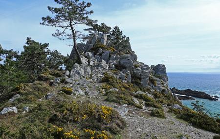 Coast of Brittany at Ile Vierge, FinistÚre, France