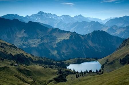 Mountain lake in the bavarian alps