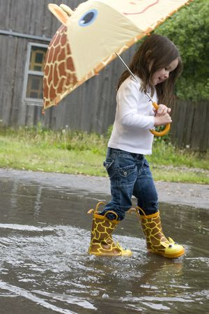 A fun day with a 4-year-old and adorable rain accessories.