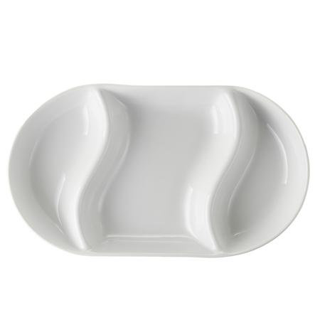 porcelain platter isolated on white background