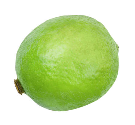 Foto für Lime closeup isolated on white background. Whole fresh lime front view. Healthy fruit food background. Organic ripe fruit. - Lizenzfreies Bild