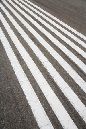 Runway, zebra crossing, for background