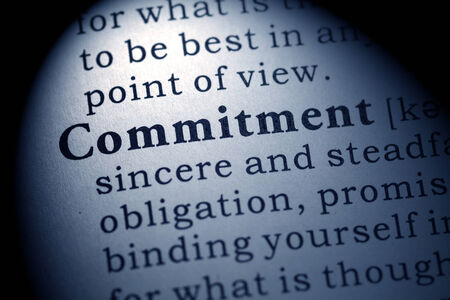 Fake Dictionary, Dictionary definition of the word commitment