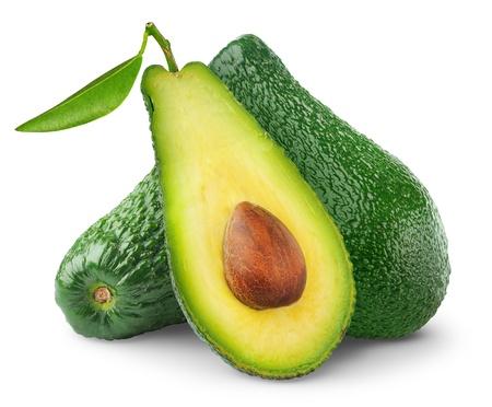 Photo for Avocado isolated on white - Royalty Free Image