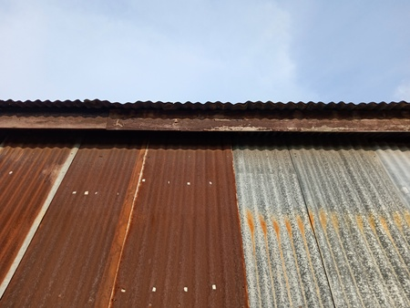 Foto de Abstract zinc roof background - Imagen libre de derechos