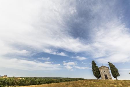 Foto per Vitaleta Chapel in Val d'Orcia - Immagine Royalty Free