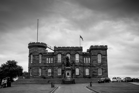 Foto per Inverness Castle in black and white - Immagine Royalty Free