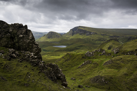 The Quiraing best view of Scotland The Isle of Skye drama