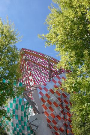 Modern famous building in Paris next to the park acclimatation