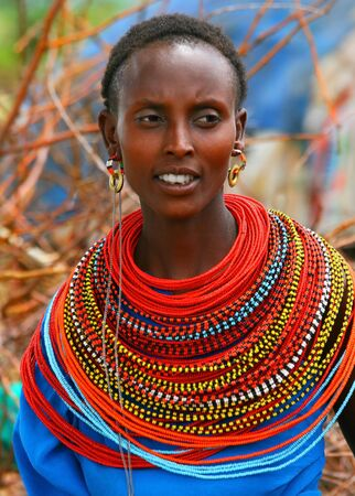 Portrait of a happy African lady.