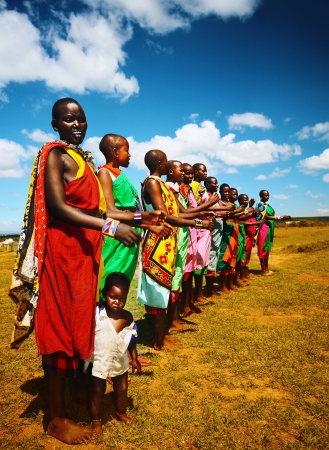 Foto de African men dancing outdoors - Imagen libre de derechos