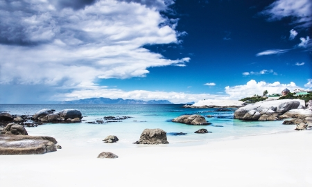 Paradise beach landscape, peaceful relaxing seaview, stunnig nature scene, Nature Reserve near Cape Town, Western Cape, South Africa