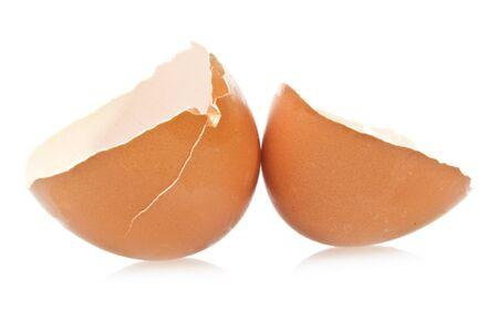 egg broken empty close up