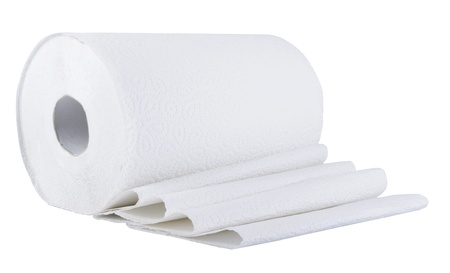 Paper roll  on the white