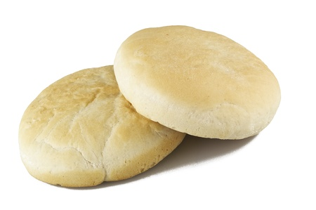 Arabic bread isolated over white background
