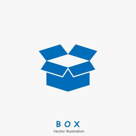 Open box icon. Vector illustration
