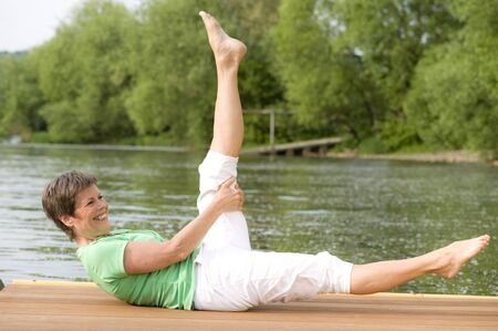 master of Nia and Pilates exercising