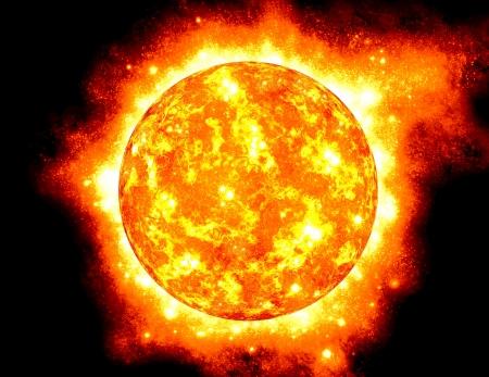 The Sun, half way through it