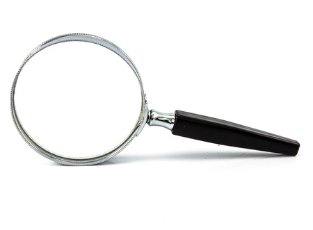 Photo pour Magnifying glass isolated on white - image libre de droit