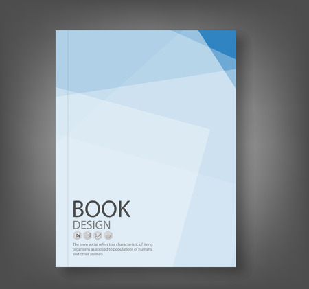 Cover report blue abstract background, vector illustration